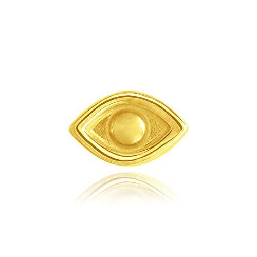 GESSIE QA01 1 unids Piercing Pendientes 925 Sterling Silver Minimalista Mini Stud Pendientes Oreja Hueso Librebe Aretes Hebilla para Las Mujeres Fine Jewerly CH0401 (Gem Color : Gold Color 11)