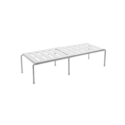 Verstellbares ausziehbares Küchenregal, versenkbares Gestell Geschichtete Lagerregale für Küchenschränke und Arbeitsplatten (Weiß)