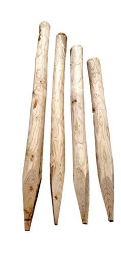 Nature LOUNGE Zaunpfosten Kastanie 200 cm - Rundholz Pfosten aus Edelkastanie - Kastanienpfosten für Staketenzaun