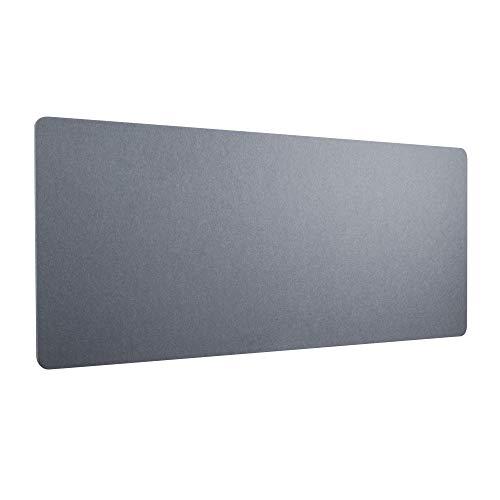 RICOO Akustik Trenn-Wand für Schreibtisch (ZAP1880-G) 180 x 80 x 2,3 cm Filz Grau Büro Home-Office Pinnwand Schall-und Sichtschutz
