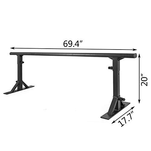 Popsport Skate Rail Professional Skateboarding Grind Rails Adjustable Skate Rail Flat Bar Grind Rails for Skateboarding