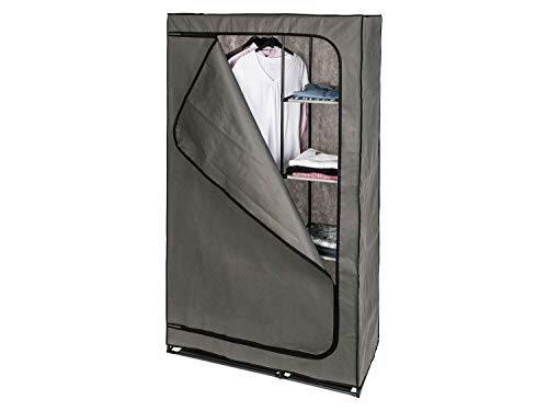 *LIONSBLADE Stoffschrank mit Kleiderstange, Anthrazit 100 x 174 x 46 cm Kleiderschrank Faltschrank Textilschrank Campingschrank Stoffkleiderschrank Faltkleiderschrank*