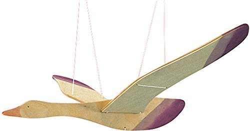 OSTHEIMER 5520065 Mobile Vogel bunt Spannweite 45cm Länge 30cm aus Holz
