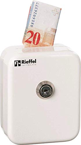Rieffel Schweiz Geldkassette mit Einwurfsschlitz Weiß K