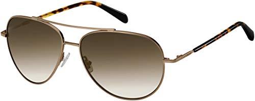 Fossil Ladies Aviator Sunglasses FOS3089 (Brown, HA Brown)