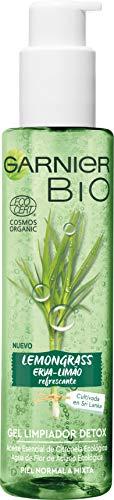 Garnier BIO Gel Limpiador Detox Lemongrass con Agua de Flor de Aciano Ecológica - Pack de 2 x 150 ml = 300ml