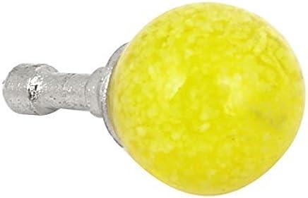 eDealMax Resplandor Amarillo Oscuro en la gota DE 3,5 mm del oído del auricular