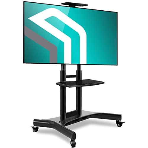 ONKRON Soporte para TV de Suelo para Pantallas de 40 a 70 Pulgadas LCD LED Plasma – Carro TV Soporte para Mueble con Carga hasta 45,5 kg – VESA 100 x 100 – 600 x 400 mm TS1551