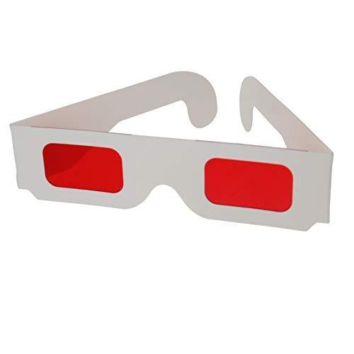 Generies Secret Decoder Brille Rot-Rot Filter Linse Weiß Faltbare Rahmen Harz Linse für Familienspiel 20Pcs
