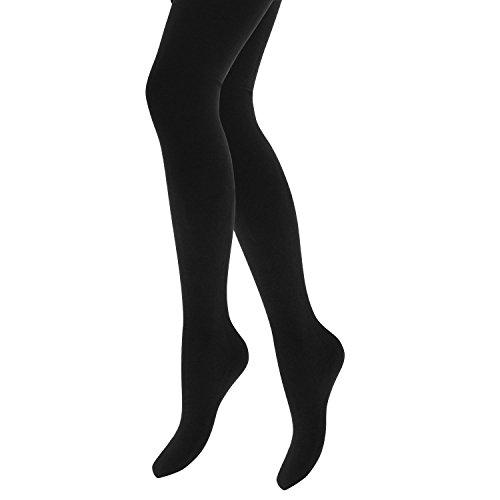 Damen dicke Thermostrumpfhosen, Wärmehalter Gr. Medium, schwarz