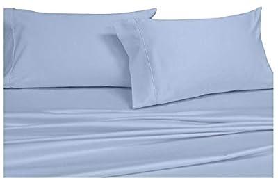 Royal Hotel Twin Extra Long Solid Blue Wrinkle-Free Brushed Microfiber Sheet Set, deep Pocket, 95gsm, 100% Luxury Sheets.