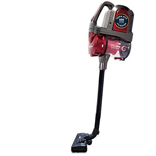 Inalsa Corded Bagless Vacuum Cleaner Xander with Hepa Filtration System and Powerful Cyclone System| 1L Dust Collector Capacity, (Red/Grey)