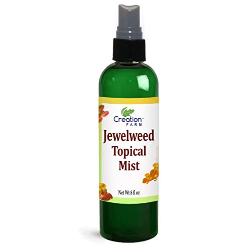 Jewelweed Spray - Itchy Skin Relief Remedy for Poison Ivy Oak Large 8 OZ Size Use for Skin Allergy, Bug Bites, Bee Stings, Rash - All Natural Botanical Base of Plant Extracts