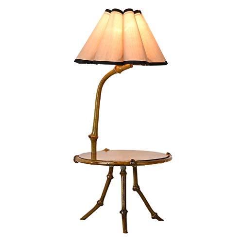 lámpara de mesita de noche Chino retro mesa de centro lámpara de mesa lámpara de mesa de bambú se utiliza en el Salón Comedor Dormitorio lámpara de cabecera decorativo, de 22 pulgadas de altura, 9.8 p