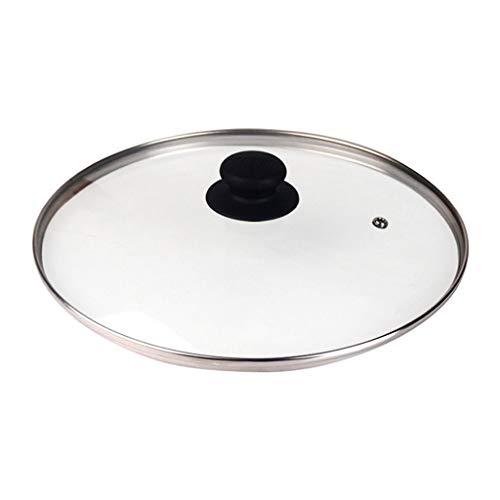 Xu Yuan Jia-Shop Tapa Universal para Ollas Tapa de Vidrio Templado de Seguridad Tapa Antiadherente Utensilios de Vidrio, 9.7', Clear Cubierta Humeante (tamaño : 24cm)