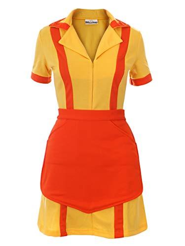 Costume di 2 Broke Girls | Uniforme da Cameriera con Grembiule di Caroline & Max | Taglia: S-XL