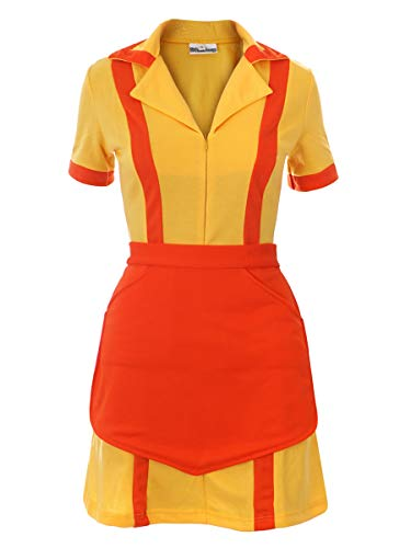 CoolChange 2 Broke Girls Kostüm Diner Uniform mit Schürze, Größe: S