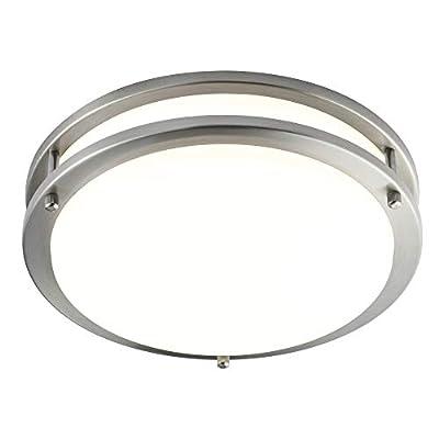 Britelight 16 inch LED Flush Mount Ceiling Light, Dimmable,25W 1750 Lumens 3000K Warm White, 5 Years Warranty