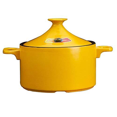 AYHa Clay Casserole Stew Pot Keramikauflauf - Hochtemperaturbeständigkeit verbessert gesund und langlebig,3