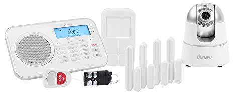 OLYMPIA Protect 9881 GSM Haus Alarmanlage Funk Alarmsystem mit IP-Kamera und App
