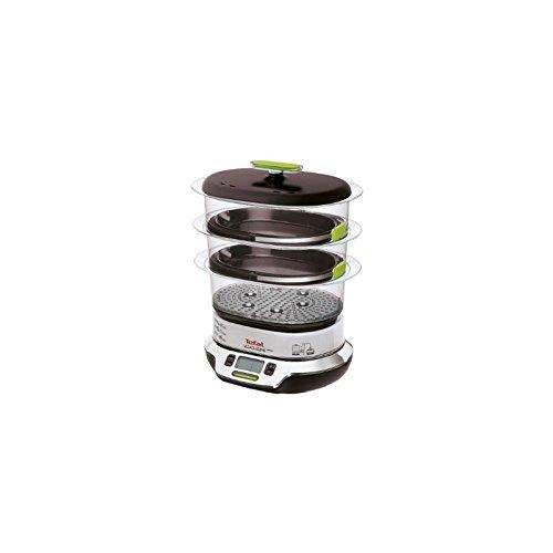 Tefal VS400332 vaporizador - Vaporera (Independiente, Negro, Verde, Metálico, Transparente, Digital, Botones, Frente)