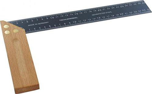 Triuso Tischlerwinkel 300 mm beidseitige Maßangabe 42 mm breit Schreinerwinkel Anschlagwinkel
