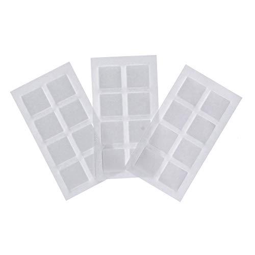ニトムズ 水ではがせる 両面接着シート 壁紙用 幅2cm×長さ2cm×厚さ約2.5cm 24片入 T3970