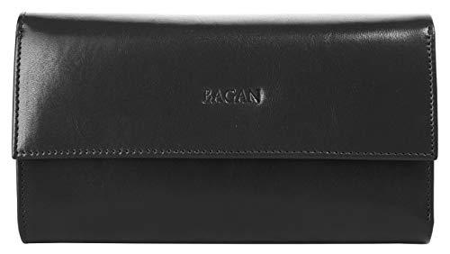 Bagan Geldbörse Echt Leder schwarz Damen - 020453