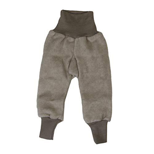 Cosilana Baby Fleece-Hose mit Bund kbT Wolle Bio Baumwolle (62-68, Latte-Macciatio Melange)