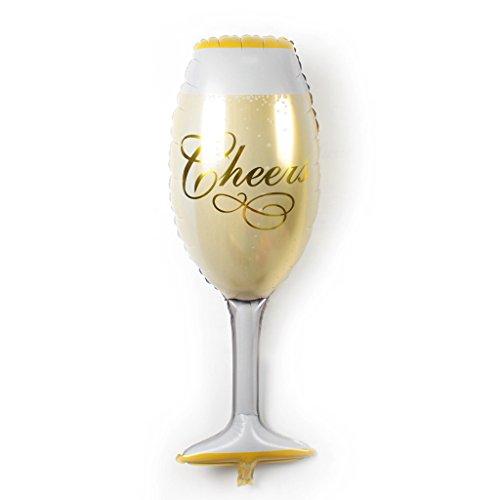 MagiDeal Ballon D'aluminuim de Champagne Verre Décoration pour Anniversaire Mariage