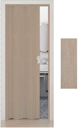 Porta a Soffietto da Interno in PVC Legno Cedro 83x214 cm mod. Maya