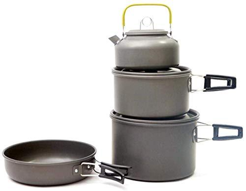 XHLLX Camping Vajilla Cocinero Conjunto Utensilios De Utensilios De Cocina para Pot Set Camping Picnic