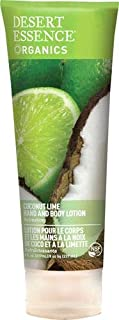 Desert Essence Organics Hand & Body Lotion Coconut Lime, 8 oz