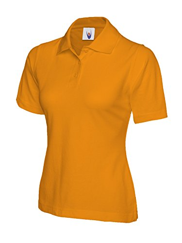 Damen Polohemd Kurzärmelig Freizeit Freizeit T-shirt Top Sport Works Arbeitskleidung - Orange, XXXL