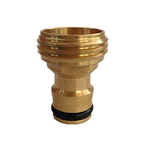 Lcuihong-Brass Latón roscado Manguera de Agua Conectores de Tubos, Equipo de riego for Jardines Spray Boquilla, el Tubo de Montaje Adaptador de Grifo, Fuerte y Robusto