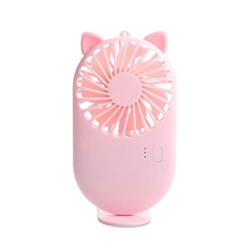 Yuxahiugfs Small Desk Fan, Recargable de pestañas ventilador de mano del ventilador mini ventilador de gran alcance Pequeño personal portátil USB silencioso de velocidad del ventilador ajustable USB f