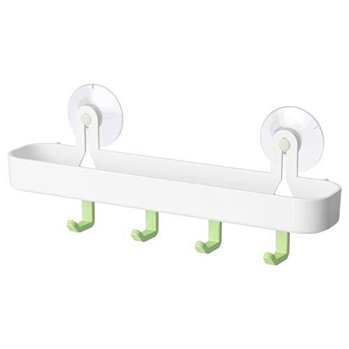 IKEA GLOMSTA 904.082.50 Plateau avec 4 crochets et ventouse Blanc/vert