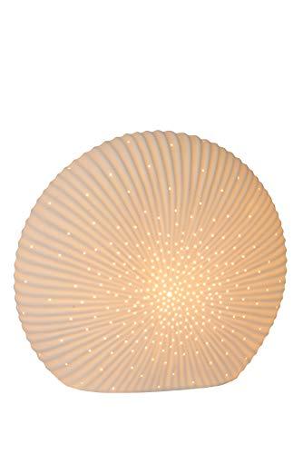 Lucide SHELLY Tischlampe, Porzellan, 25 W, Weiß