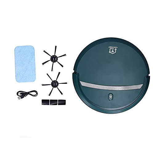 JADPES Robot Aspirador, barredora Inteligente, barredora Inteligente 3 en 1, Aspirador automático de sincronización pequeña, Carga USB para Uso doméstico(Verde)