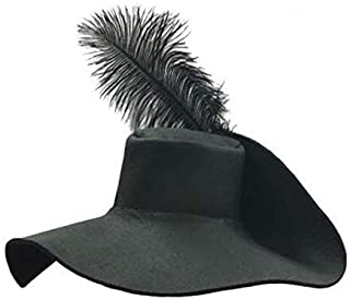 Sombrero mosquetero español, ala ancha