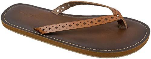 Panama Jack Damen-Sandalen, Premium-Flip-Flop-Sandalen mit Memory-Schaum, Damengröße 39 bis 45, Braun (hautfarben), 40/42 EU