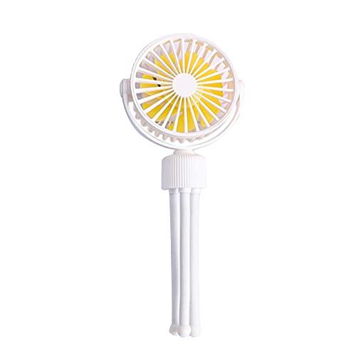 Fenteer Ventilador de Cochecito Flexible Clip de trípode en el Ventilador con 3 velocidades y Ventilador Personal Giratorio de Mano para Asiento de Coche - Amarillo