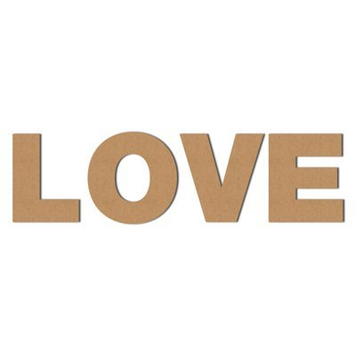 DRUCKUNDSO (Love) Pappbuchstaben XXL Dekoration, Wellpappe, Buchstaben aus Pappe, Ladendeko, Geschenk, Höhe 50 cm