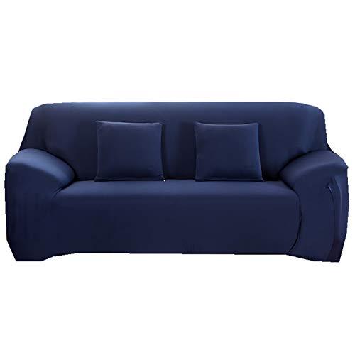 YB&GQ Antideslizante Resistente Elástica Funda Cubre Sofá,Color Sólido Cubre Sofa con Espuma Antideslizante,Lavables Funda De Sofá Protector De Muebles-Cian Tibetano 57-73inch(145-185cm)