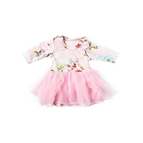OMMO LEBEINDR Netter 1PC Puppenkleidung Anzug Modische Rock-Mini Sequin Schuhe Kreative 18 Zoll Kostüm Zubehör Rosa