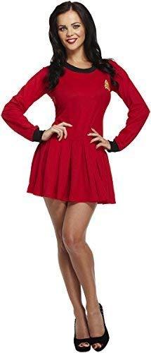 FANCY DRESS ADULT LADIES SPACE TRAVELER STAR TREK FITS 10-14 by Best Dressed