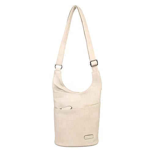 CASAdiNOVA - Umhängetasche Damen Braun Groß - Crossbody Bag - PU Leder Schultertasche - Messenger Handtasche - Damen Tasche – premium Qualität
