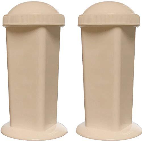 Coplin Staining Jar, 5-Slide Capacity, Screw Top, Polypropylene, Karter Scientific (Pack of 2)