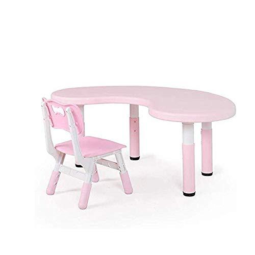 DFQX Kindertisch und 1 Stuhl Set Family Time, Schöpfung Inspiring Aktivität Tisch, Schreibtisch-Sets for das Spiel im Schlafzimmer Studieren, Spielzimmer, Kindergarten (Color : Pink)