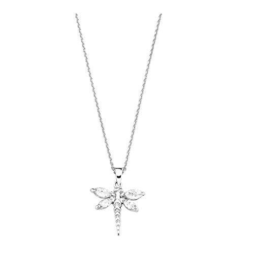 amor Kette mit Anhänger für Damen, Silber 925, Libelle | Insekt